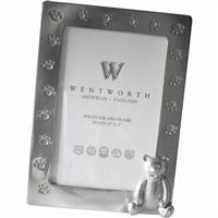 Child's Pewter Teddy Bear Frame