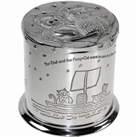 Owl and Pussy Cat Pewter Money Box
