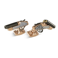 Shotgun Cufflinks with Movable Parts by Deakin & Francis