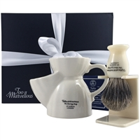 The Traditional Gent Ceramic Shaving Mug Gift Set