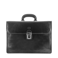 The London Three Pocket Classic Mens Leather Briefcase