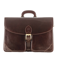 The Tomacelli 2 Pocket Large Leather Briefcase