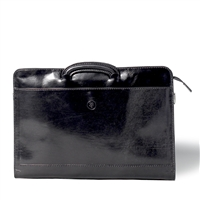 The Barolo Italian Leather Document Case with Handles