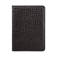 The Westminster Croco Zipped Leather Document Holder