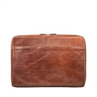 "The Davoli 17"" Leather Laptop Case / Sleeve by Maxwell Scott"