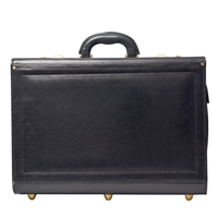The Varese Italian Leather Pilot Attache Case
