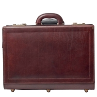 The Varese Italian Leather Pilot Attache Case with Wheels