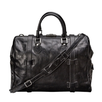 The Gassano Large Italian Leather Gladstone Holdall