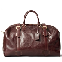 The FleroL Large Italian Leather Overnight Bag