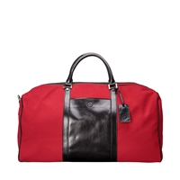 The Giovane Large Leather & Canvas Travel Bag