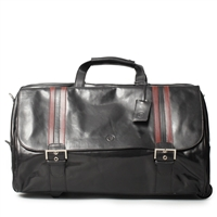 The Dino Large Italian Leather Duffle Holdall Bag on Wheels