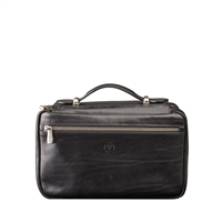 The Cascina Italian Leather Gentleman's Toiletry Wash Bag