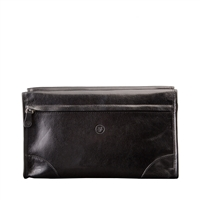 The Tanta Italian Leather Gentleman's Toiletry Wash Bag