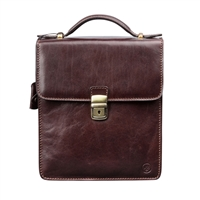 The Santino Medium Gent's Italian Leather Shoulder Bag