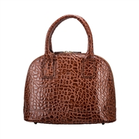 The Rosa Fine Italian Classic Croco Leather Handbag