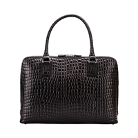 The Fiorella Fine Italian Classic Croco Leather Business Handbag
