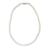 6mm - 7mm Freshwater Pearl Necklet. 18 Inches.