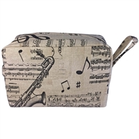 Gent's Fabric Toiletry Wash Bag with Musical Theme Design