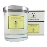 Classic Scented Candle - Leather Fragrance by Vila Hermanos