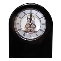 Classic Black Crystal Dome Mantle Clock by Royal Scot Crystal
