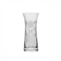 Crystal Elizabeth Rose Lily Vase by Royal Scot Crystal