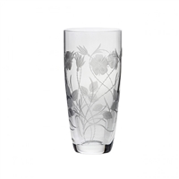 Crystal Elizabeth Rose Tall Vase by Royal Scot Crystal
