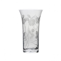 Crystal Elizabeth Rose Large Flared Trumpet Vase by Royal Scot Crystal