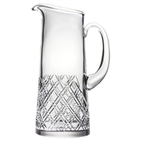Crystal Tartan Design Two Pint Water, Juice or Cocktail Jug by Royal Scot Crystal