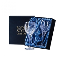 Pair London Design Small Wine or White Wine Glasses by Royal Scot Crystal