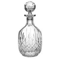 Traditional Cut Crystal Port or Brandy Decanter, London Design. Gift Boxed By Royal Scot Crystal
