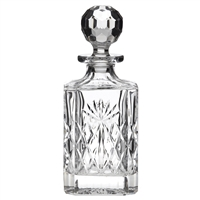 Kintyre Pattern Square Spirit or Whisky Decanter Gift Boxed by Royal Scot Crystal