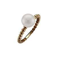9ct Yellow Gold Solitaire Cultured Akoya Pearl Dress Ring