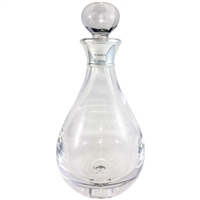 Crystal Tear Drop Shaped Spirit Decanter with Sterling Silver Collar
