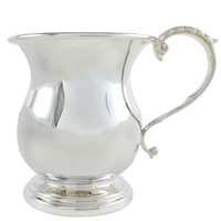 Sterling Silver Georgian Style Christening Cup. British Made.