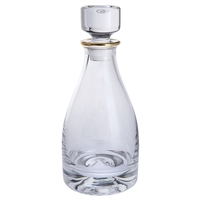 Dimple Gold Range Crystal Spirit Decanter by Dartington Crystal