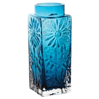 Small Teal Coloured Flower Vase. Marguerite Collection by Dartington Crystal