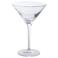 Pair of Traditional Crystal Martini Cocktail Glasses by Dartington Crystal