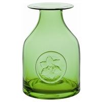 Lime Green Lily Flower Bottle Vase by Dartington Crystal