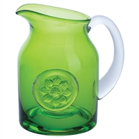 Anemone Lime Green Flower or Serving Jug by Dartington Crystal