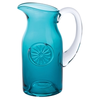 Daisy Teal Slim Flower Jug or Serving Jug by Dartington Crystal