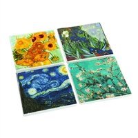 Set of Four Drinks Coasters Van Gogh's Famous Works by John Beswick