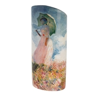 Ceramic Flower Vase of Monet Woman with a Parasol by John Beswick