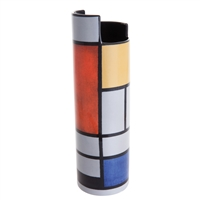 Porcelain Flower Vase Mondrian Composition with Large Red Plane by John Beswick