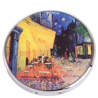 Pocket Handbag Compact Mirror Van Gogh Terrace du cafe Le Soir by John Beswick