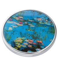 Pocket Handbag Compact Mirror Monet Water Lilies by John Beswick