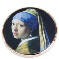 Pocket Handbag Compact Mirror Vermeer Girl with a Pearl Earring by John Beswick