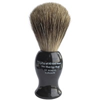 Large Black Shaving Brush with Pure Badger Bristle