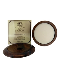 Sandalwood Shaving Soap, 100g in Wooden Bowl