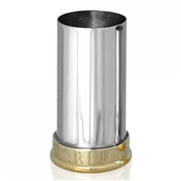 Pewter and Brass Shotgun Cartridge Double Spirit Measure.