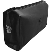 Gents Black Leather Traditional Square Toiletry Bag